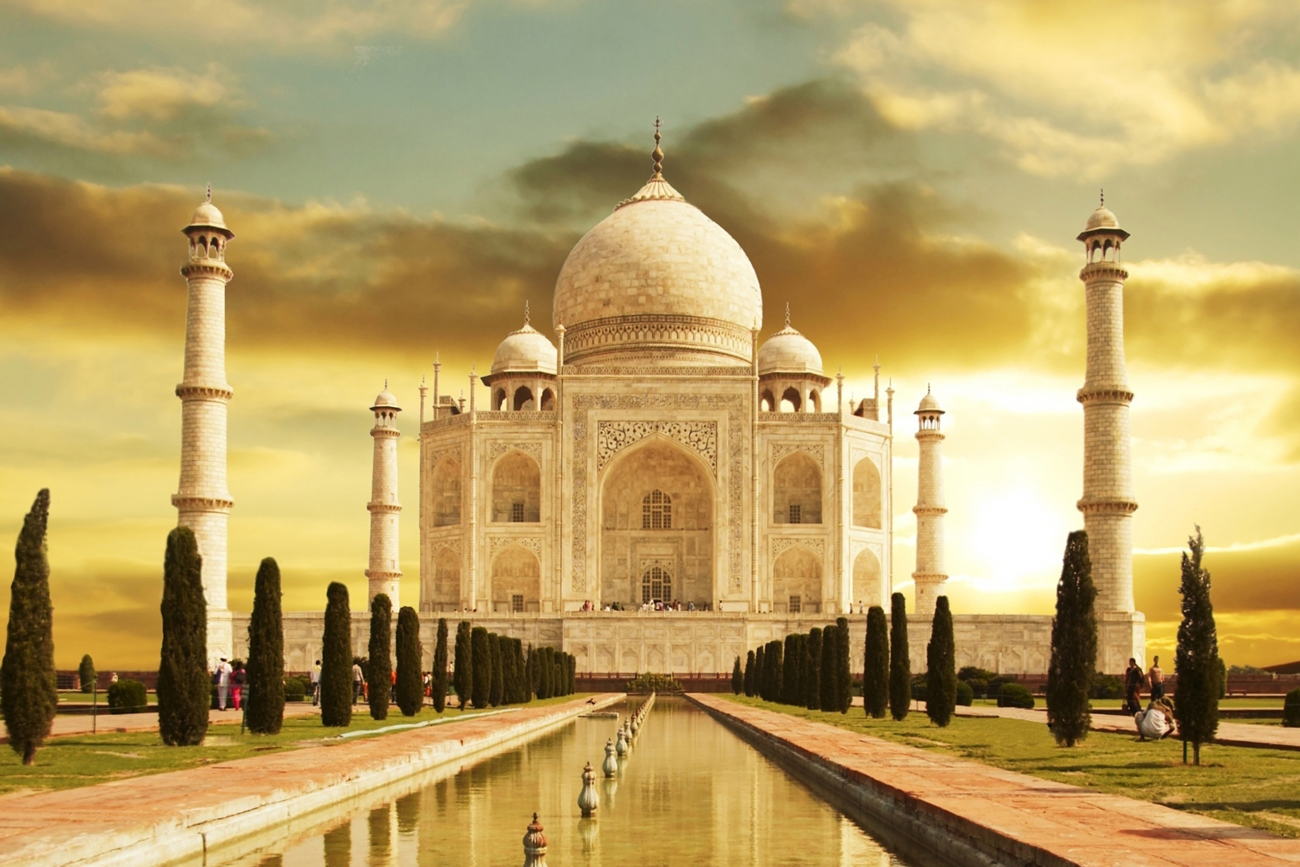 taj mahal india famous building wallpaper KC884 living room home ...