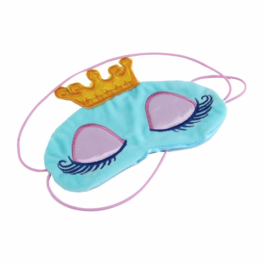 2018 New 1pc Cute Princess Crown Fantasy Eyes Cover Eyeshade Eyepatch Travel Sleeping Blindfold Shade Eye Mask Portable Patches