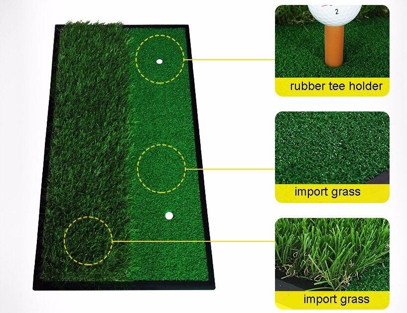 PGM GOLF 33*63 cm tapis d'exercice de Golf d'arrière-cour tapis d'entraînement tapis de frappe tapis de pratique d'intérieur d'herbe verte avec support en caoutchouc