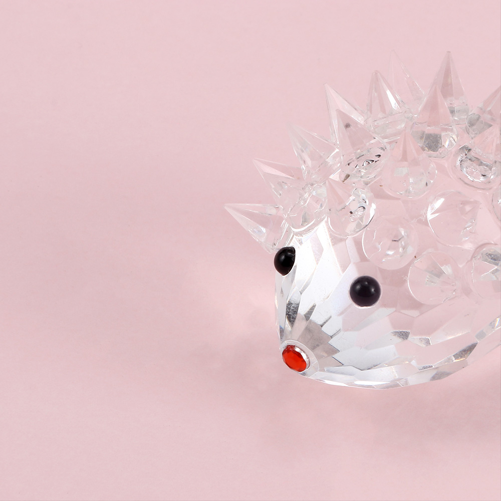 Cute Artificial Glass Crystal Hedgehogs Paperweight Crafts Art/&Collection Decor