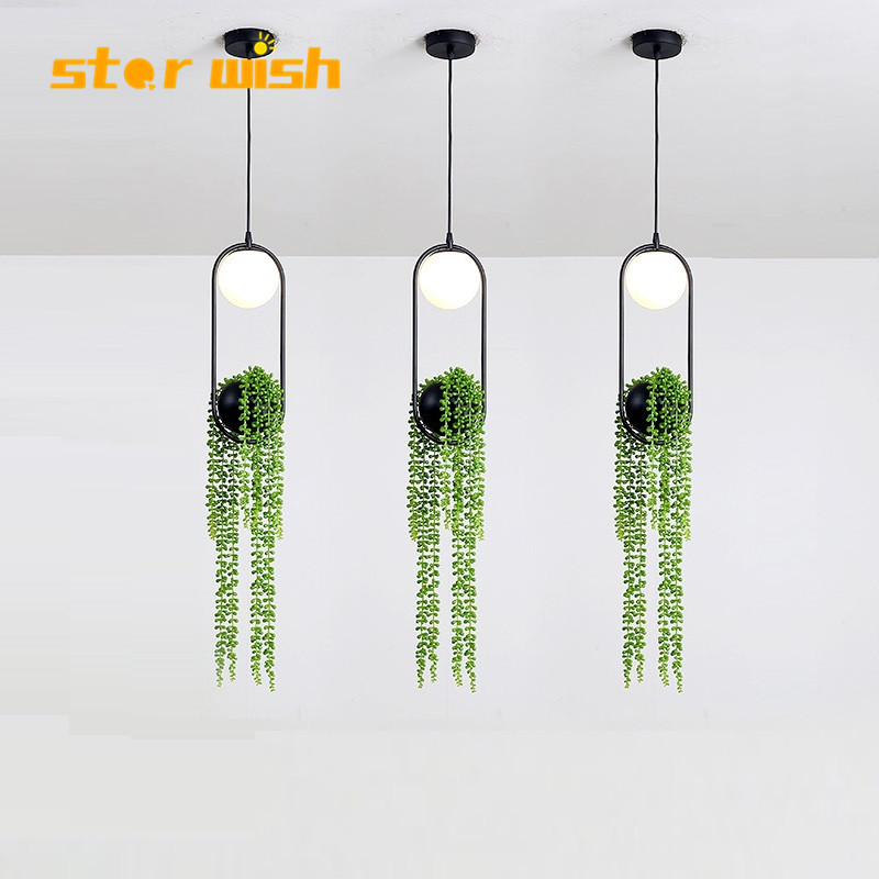Designer Nordic simple iron plant Pendant Lights led hanging lamp  Kitchen Island bar hotel home decor E27Designer Nordic simple iron plant Pendant Lights led hanging lamp  Kitchen Island bar hotel home decor E27