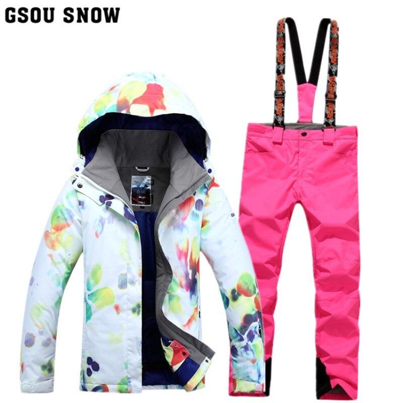 Nouveau Gsou neige double pont Snowboard costume femmes extérieur coupe-vent imperméable thermique randonnée ski vêtements
