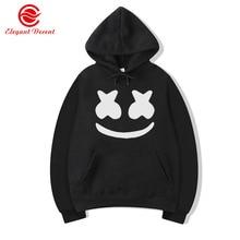 Marshmello cara sonriente sudaderas con capucha de los hombres de moda Hip  Hop Streetwear Sudadera con capucha sudaderas con cap. 37b7189ddd3
