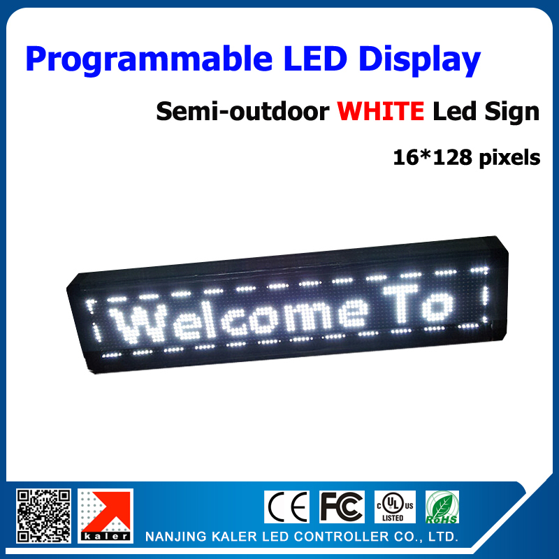 P10  white color outdoor led sign moving text shp store advertising boardP10  white color outdoor led sign moving text shp store advertising board
