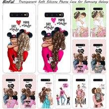 Популярный Мягкий силиконовый чехол для мамы, девочки и мальчика для samsung Galaxy S10, S9, S8 Plus, S7 Edge, A6, A8 Plus, A7, A9,, A5, Модный чехол