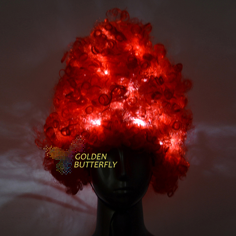 Women's Accessories Red Led Hair 11 Pcs/pieces Novelty Monochrome/full Color Glowing Prom Wig Fashion Hairs Accessories Customcolor Can Be Selected Strong Packing Women's Scarf Sets
