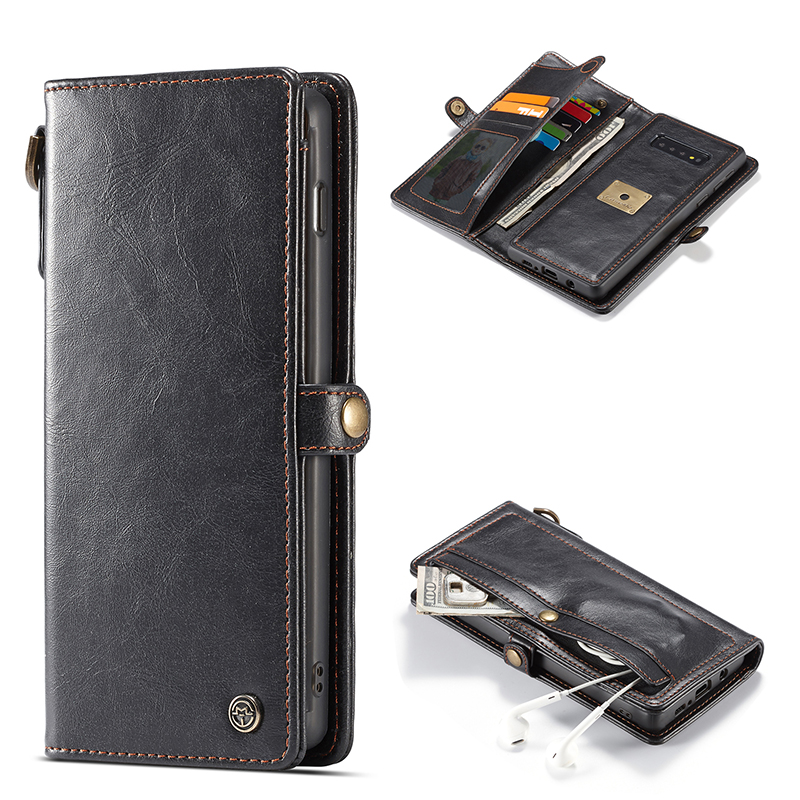 Luxury Leather Case For Samsung S10e S10 Plus S9 S8 Case Flip Wallet Cover Magnetic Car Phone Cases For Samsung Galaxy Note 9 8