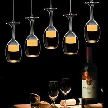 3Wx3 LED Cup Wineglass Modern LED Pendant Light Lamp With 5 Lights for Living Room Bar Saloon Dining Room