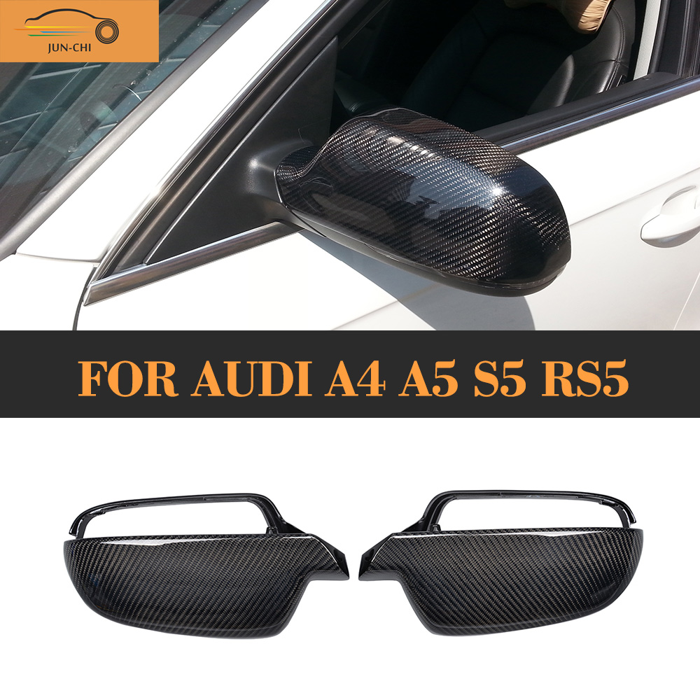 Replaced Carbon fiber Rear View Mirror Cover for Audi A4 B8.5 B9 2013 - 2015  A5 8T 2010 - 2015  S5 2010 - 2014 RS5 2011 - 2015