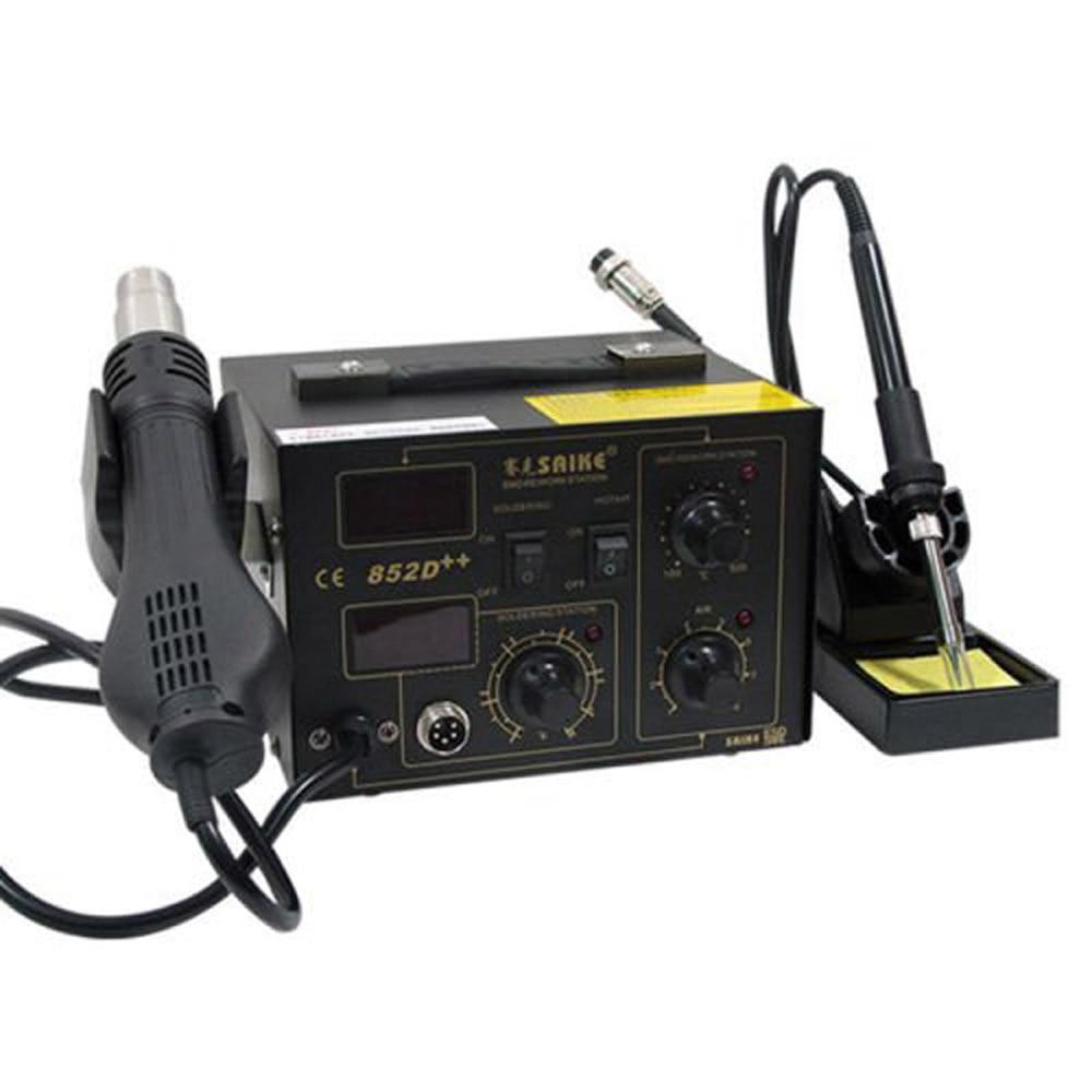 220 V/110 V Saike 852D + + Hot Air Rework Station soldeerstation BGA De Solderen 2 in 1 met Supply Air Gun Rack en geschenken - 3