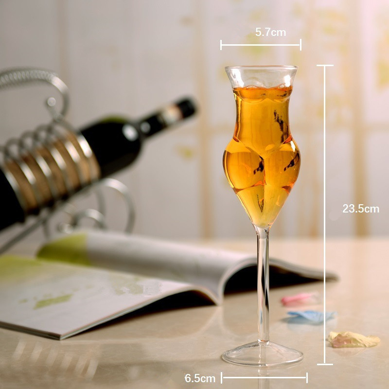Wine Glass Cup Human Body Shape Bottles Whiskey Beer Glass Cocktail Champagne Glasses Creative Drink Cups Goblet Tumbler Cup in Beer Steins from Home Garden