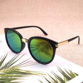 Classic Round Vintage Sunglasses Women Fashion Brand Design Mirror Sun Glasses Female Shades Retro Gafas Oculos De Sol UV400