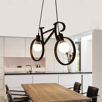 Retro Bicycle Pendant Light Creative Iron Luminaire Living Room Pendant Simple Restaurant Bar Industrial Kitchen Hanging Lamps