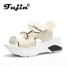 Fujin 2019 hot sale Women shoes summer new style womens sandals platform Mujer Sandalias comfortable flip flops women
