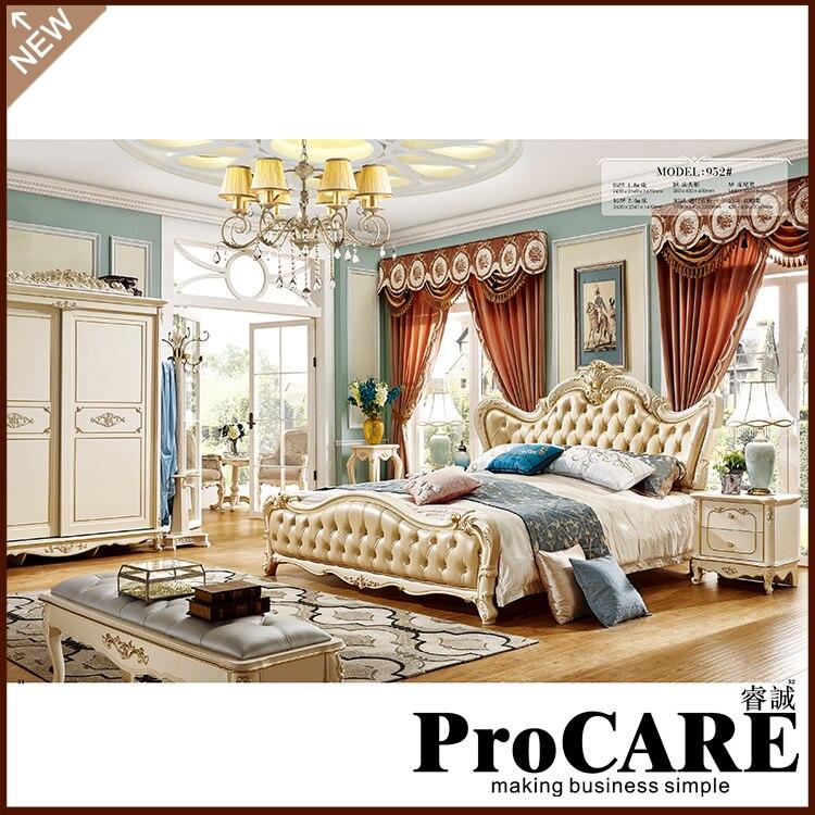 US $2076.0 |Luxus Klassische König Größe Holz Royal Französisch Stil  Barocco Schlafzimmer Möbel Set-in Schlafzimmer-Sets aus Möbel bei  Aliexpress.com ...