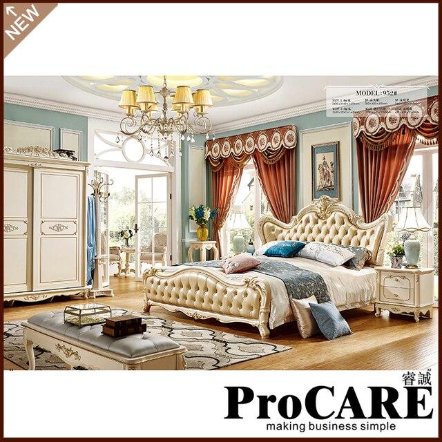Luxus Klassische König Größe Holz Royal Französisch Stil Barocco