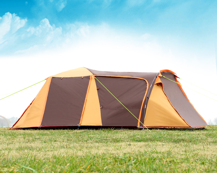 August 3-4 Person Use One Hall One Bedroom Double Layer Waterproof Windproof Automatic Inner Tent Camping Tent Namiot high quality outdoor 2 person camping tent double layer aluminum rod ultralight tent with snow skirt oneroad windsnow 2 plus