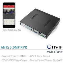 ANTSTEK Factory Direct 9CH 5MP 4MP 3MP NVR with AEEye Smartphone App live view and playback support HDMI Audio output and RS485
