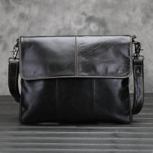 купить Luxury Messenger Bag Men's Genuine Leather Shoulder Bag For Men Man Fashion Small Flap Male Crossbody Bags Handbags High Quality в интернет-магазине