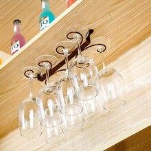 The new High quality 4 – 12 Wine glass rack Stemware Hanging Under Cabinet Holder Hanger Kitchen bar accessoires.