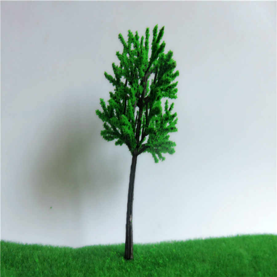 100 Buah/Banyak Model Hijau Pohon Dewasa untuk Pemandangan Set Kereta Jalur Kereta Tata Letak dan Kit Mainan