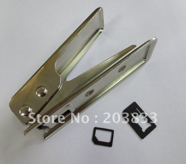 SIM card  to Nano SIM Card Cutter for iphone 5  & to micro sim card for iphone 4/4S plus 3 sets adapters