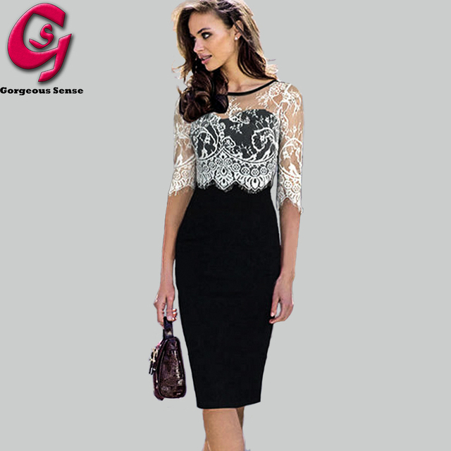 Aliexpress.com : Buy Women White Lace Dress 2015 Fashion Elegant ...