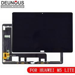Digitalizador touch screen para huawei mediapad m5 lite, tela de reposição para huawei mediapad m5 lite lte 10 BAH2-L09 BAH2-L09C Bach2-L09C Bach2-W19C com lcd