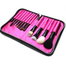 12 Pcs Portable Makeup Brush Set Premium Synthetic Foundation Face Powder Blush Concealers Eye Shadows Make Up Brushes Kit