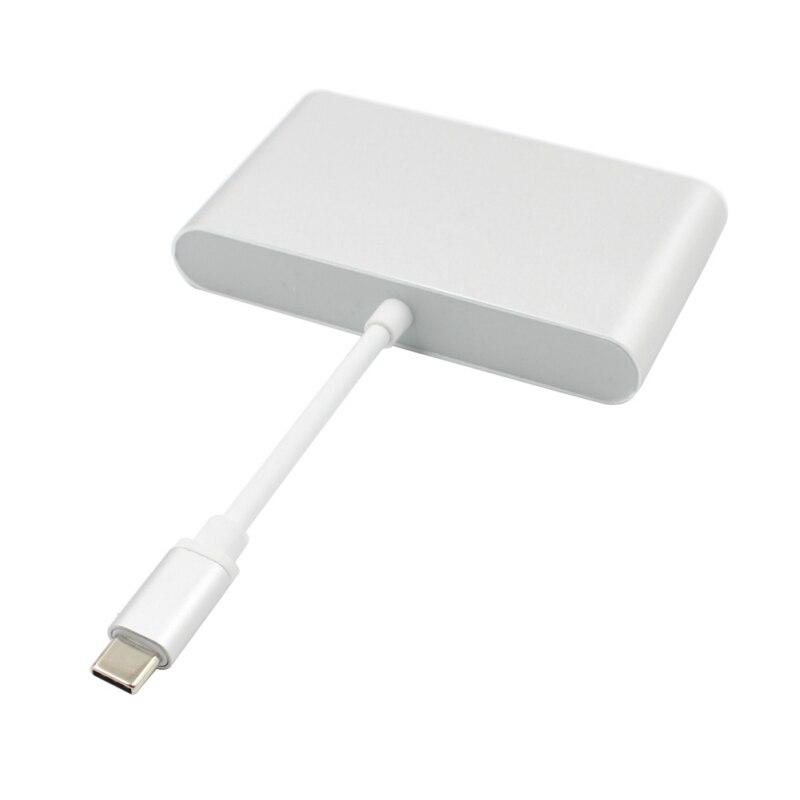 Image 4 - Type C USB C к HDMI 4K + Gigabit Ethernet (RJ45 порт) + USB 3,0 USB 3,1 адаптер типа C Цифровой AV адаптер видео конвертер
