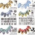 6Pcs/set BORN PRETTY 12*6cm Rectangle Stamp Template Manicure Nail Art Image Plate Stencils BPX-L007~012