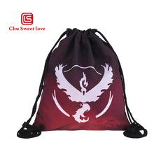 Fashion Portable Drawstring Bag Pocket Game Drawstring Backpack Girl Cotton Travel Pouch Storage Clothes High Quality Canvas Bag