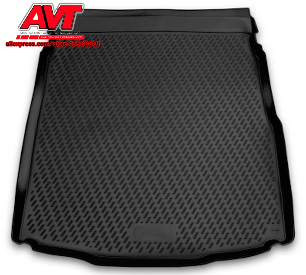 Trunk mats for Volkswagen Passat B8 2015- 1 pcs rubber rugs non slip rubber interior car styling accessories