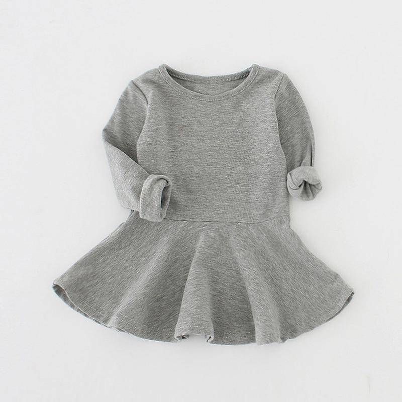7cecf5aa9d03 Sun Moon Kids Baby Dress 2017 Long Sleeve 1 Year Birthday Dress Casual  Ruffles Newborn Baby