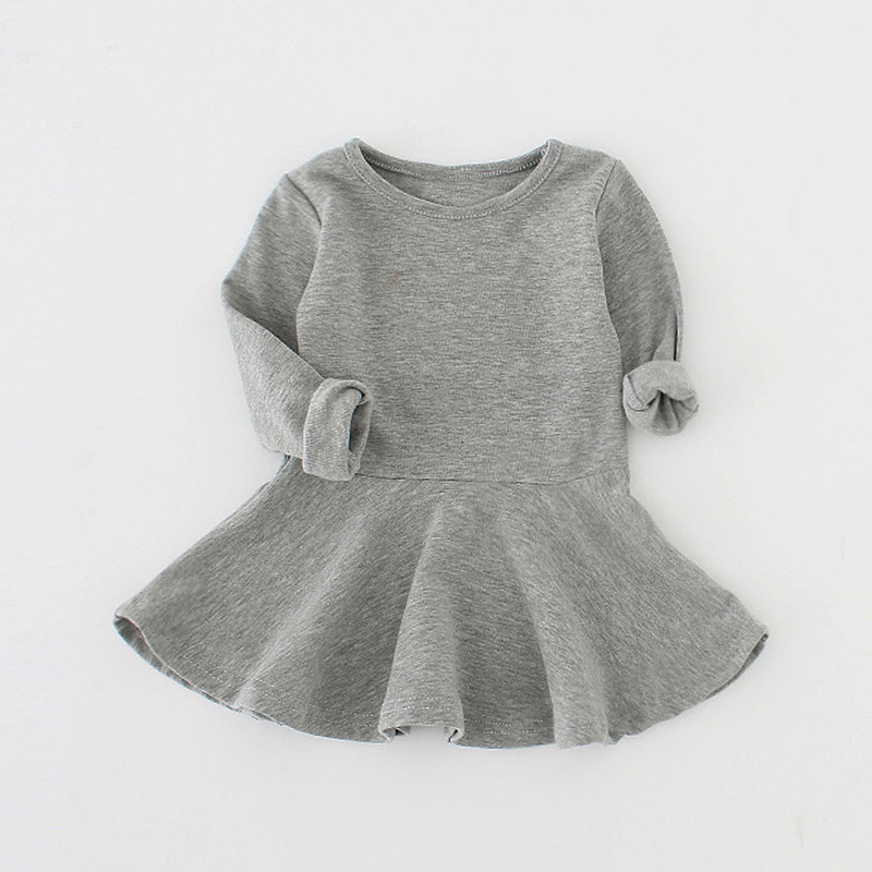 Sun Moon Kids Baby Dress 2017 Long Sleeve 1 Year Birthday Dress Casual Ruffles Newborn Baby Girl Clothes Princess Tutu Dresses 0 2t casual summer baby dress cotton floral infant girl dresses ruffles toddler baby girl clothes 1 2 years old newborn dress