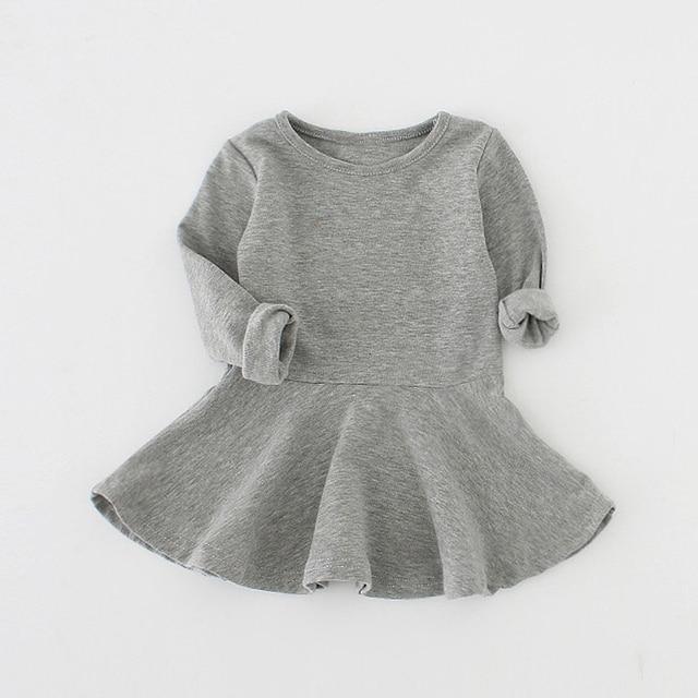 Sun Moon Kids Baby Dress 2017 Long Sleeve 1 Year Birthday Dress