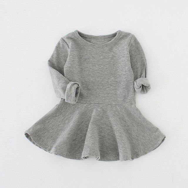 Sun moon kids bé dress 2017 dài tay 1 năm sinh nhật dress casual ruffles sơ sinh baby girl quần áo princess tutu Dresses