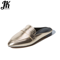 J K Big Size 32 43 Summer Ladies Casual Shoes Fashion 2017 Mules Shoes Outside Slippers
