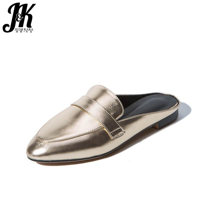 J&K Big Size 32-43 Summer Ladies Casual Shoes Fashion 2017 Mules Shoes Outside Slippers Low Heels Female Footwear Slides Women