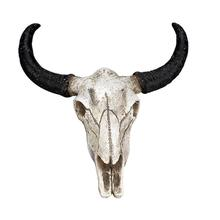 Animal Long Horn Cow Skull Wall Hanging Halloween Gifts Art Crafts Ornaments