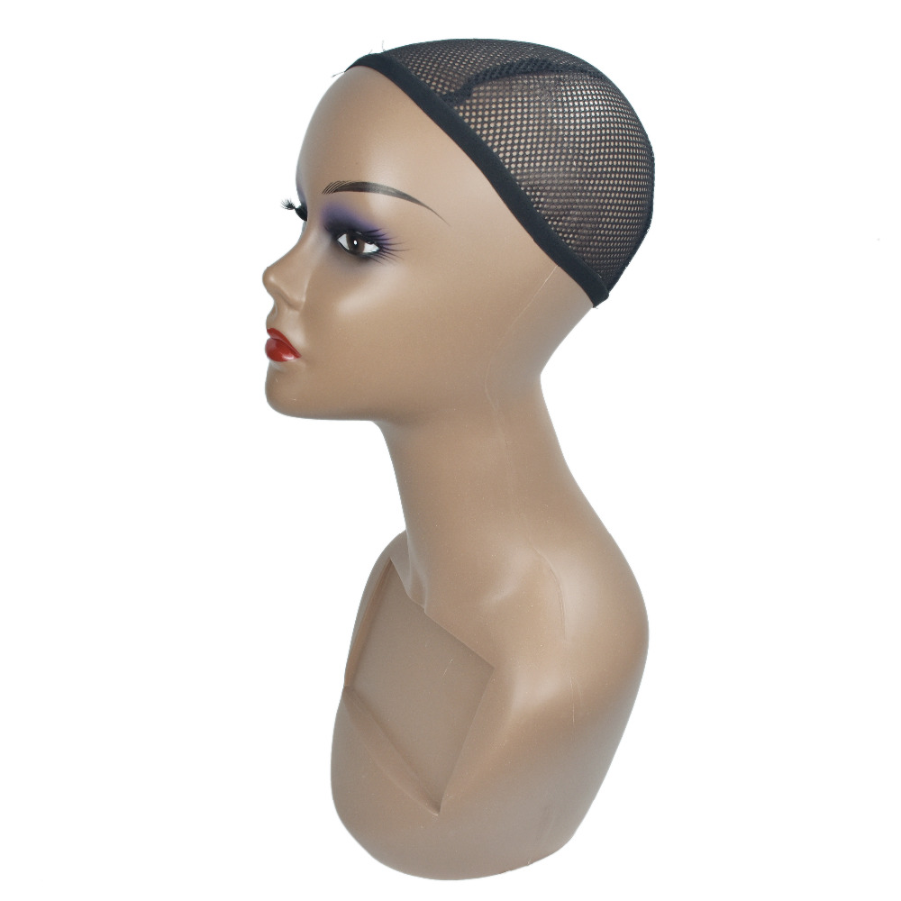 Female ABS Mannequin Head Wigs Hats Cap Glasses Headphone Display Model Stand Window Mannequin Head