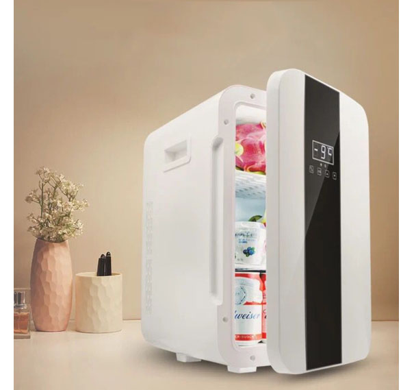22L Single Door Digital Display Car Refrigerator Household Mini 55w Hot/ Cold Removable Storage Compartments