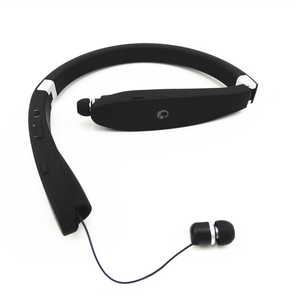 Suicen SX-991 Sport Bluetooth Casque Rétractable Pliable Sans Fil De Casque Anti-perdu Dans L'oreille Écouteurs Auriculaires