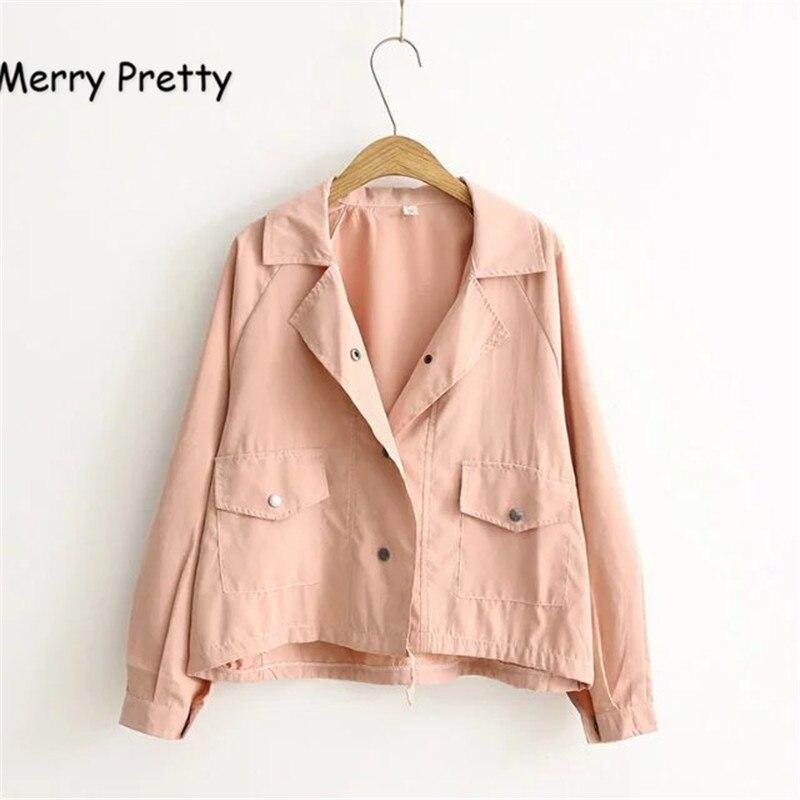 MERRY PRETTY Autumn New Women Jacket Loos