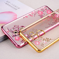 05 Proteja Suave Ouro Rosa Flor TPU Capa Sparkly Gliter case para letv leeco le2 le 2 pro x526 x527 X620