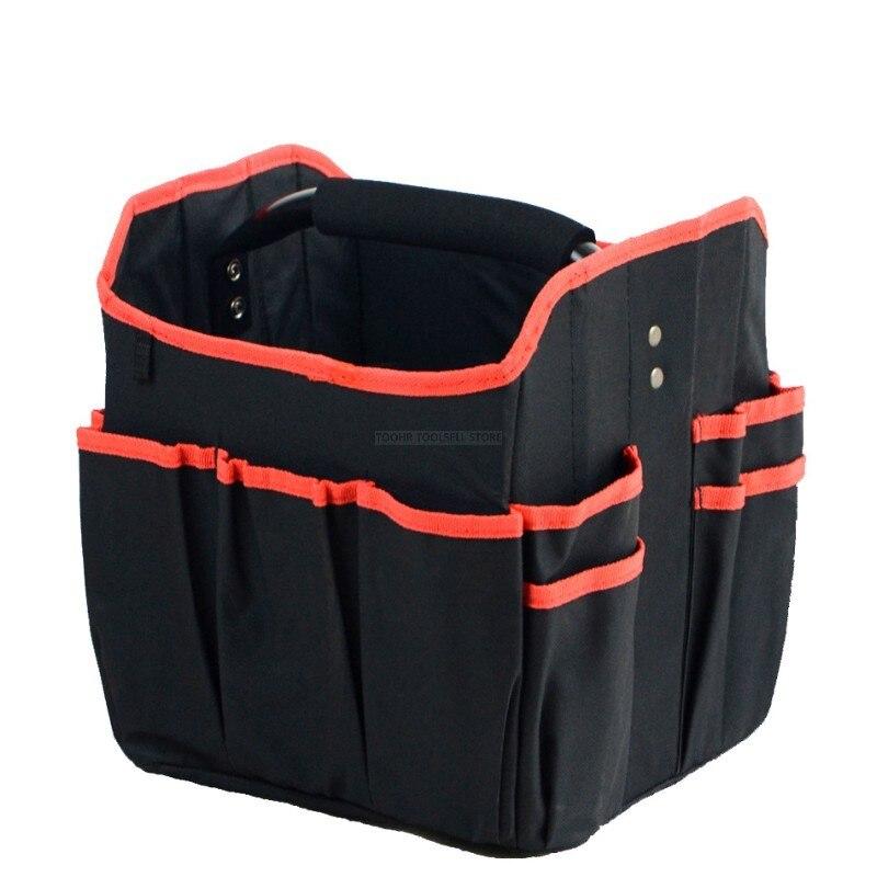 Foldable Tool Bag Waterproof Tool Bags Large Capacity Handbag Tool Organizer Storage Bag Electrician Repair Box Instrument Case