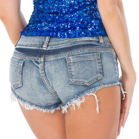 Zomer Vrouwen Jeans Denim Mini Shorts Beach Party Club Potlood Skinny Jeans Vrouwelijke Ripped Verzwakte Rand Denim ULTRA LAAGBOUW JEANS