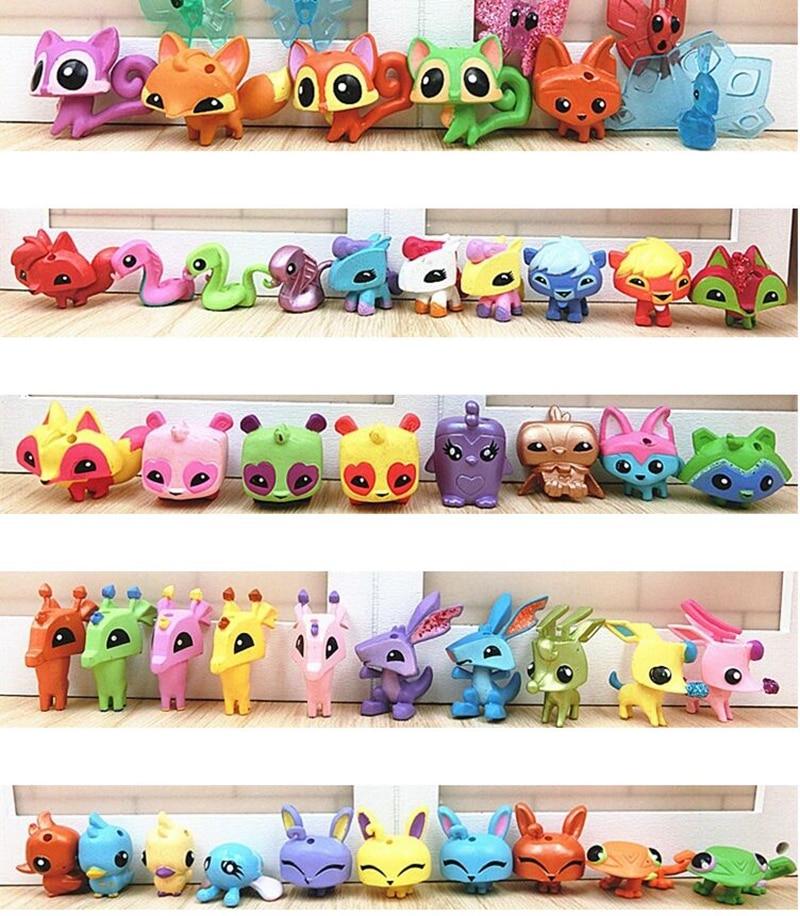 100pcs Set Animal Jam Figures Toys Dolls Collection Little Pet Shop