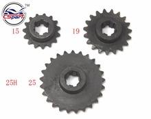 15 19 25 15 T 19 T 25 T Zahn Zähne 6 MM 25 H Ritzel 47CC 49CC Mini Moto Dirt Pit Bike Parts cheap Steel ISO9000 Front Sprocket CSPART 0 1kg TXX14