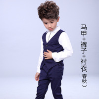 Boys Spring Clothes Sets Children Gentleman Waistcoat + Shirt + Pants 3Pcs Set Boys Formal Suits Wedding Party Clothing H69